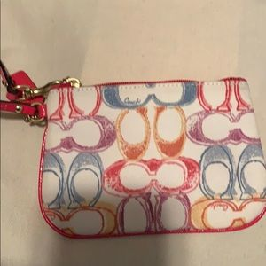 Coach wristlet .....new without tags ..... $70.00
